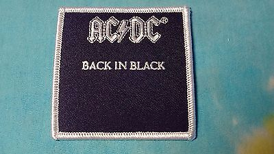 AC/DC Back In Black 3 Inch Iron On Patch
