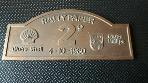 Club Shell and Club Philips Rally Paper badge 1980 vintage rare