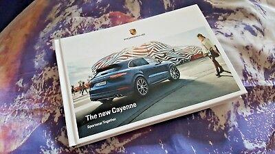 Porsche Cayenne Mk3 2018 MY Sales Brochure - 10/2017 142pgs - Hardback