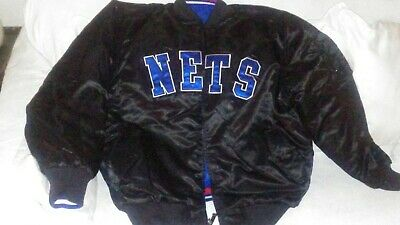 NBA Vintage Hardwood Classic Reversible New Jersey Nets Jacket Size Large-NEW