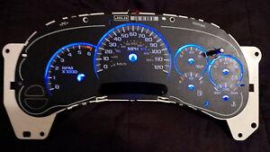 LED BLUE 9 pc Light Kit GM Gauge Cluster Speedometer Tahoe Hummer Silverado GMC