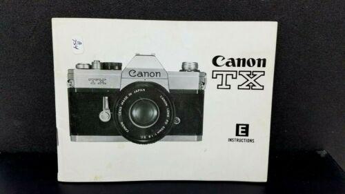 ORIGINAL CANON TX  Program camera Owner