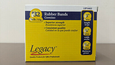 Legacy Rubber Bands 32 14 Lb Box