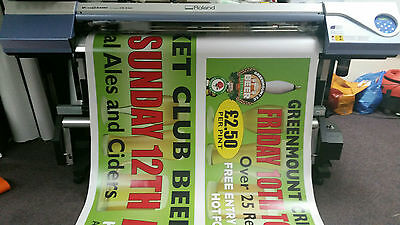 CUSTOM PERSONALISED OUTDOOR PRINTED PVC BUSINESS ADVERTISING BANNERS 10,000 Sold