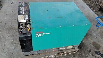 2008 Cummins Onan Rv Qd 6000 6kw 6hdkah-1044k Quiet Diesel Generator 2318 Hrs