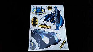 Marvel Heroes Batman and bat mobile Large wheelie Bin Stickers kids bedroom