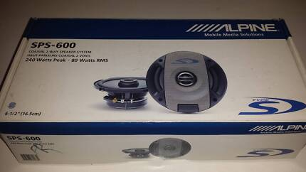 """Alpine SPS-600 Type-S 6-3/4"""" 2-way co-axial car speakers Westmead Parramatta Area Preview"""