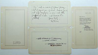 Cartoonists John La Gatta, Ed Fisher, Karl Hubenthal & Hugh Haynie Autographs