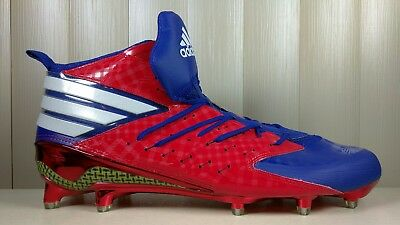 Adidas Freak X Kevlar Men's SIZE 14 Football Cleats Red Blue White AQ7178