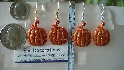 Pumpkins Halloween or Harvest. 4 Glittery colors. Orange, Gold, White or Black