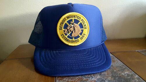 Vintage Detroit Police Department Mounted Unit, Mesh Snapback Trucker Hat
