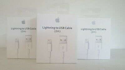 Genuine iphone Apple Lightning To USB Cable 2M Charger Lead Data Cable