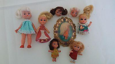Vintage 1960s Mattel Little Liddle Kiddles doll Lot.