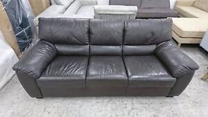 OPUS 3 SEATER LEATHER SOFA - HIGH END FACTORY SECOND Richmond Yarra Area Preview