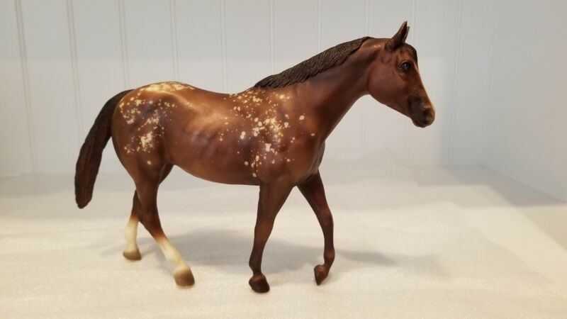 Vintage traditional breyer horse Goin for Approval Appaloosa Stock Mare 1996