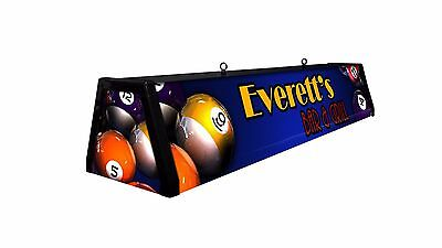 CUSTOM, PERSONALIZED BILLIARDS LAMP, Bright Backlit, Pool Table Light
