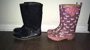 2 pairs of Girls Boots - size 5