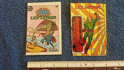 Vintage Kenner SUPER POWERS DC Comics Lex Luthor #10 Comic & BIO Card