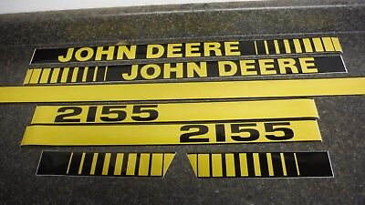 John Deere 2155 Tractor Decals. Hood Numbers Only. See Details Pictures