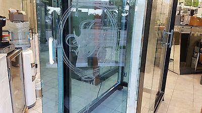 SHOWER DOOR HANDLE BACK TO BACK IN POLISH NICKEL OR POWDER COAT WHITE 6