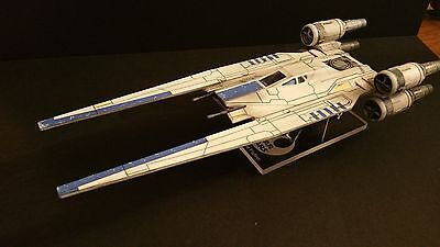 Professionally built Star Wars Rogue One U-Wing fighter with custom acrylic base