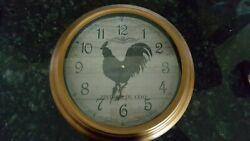 Three Hands Corp., Bronze Metal Vintage Look Rooster Wall Clock, 15