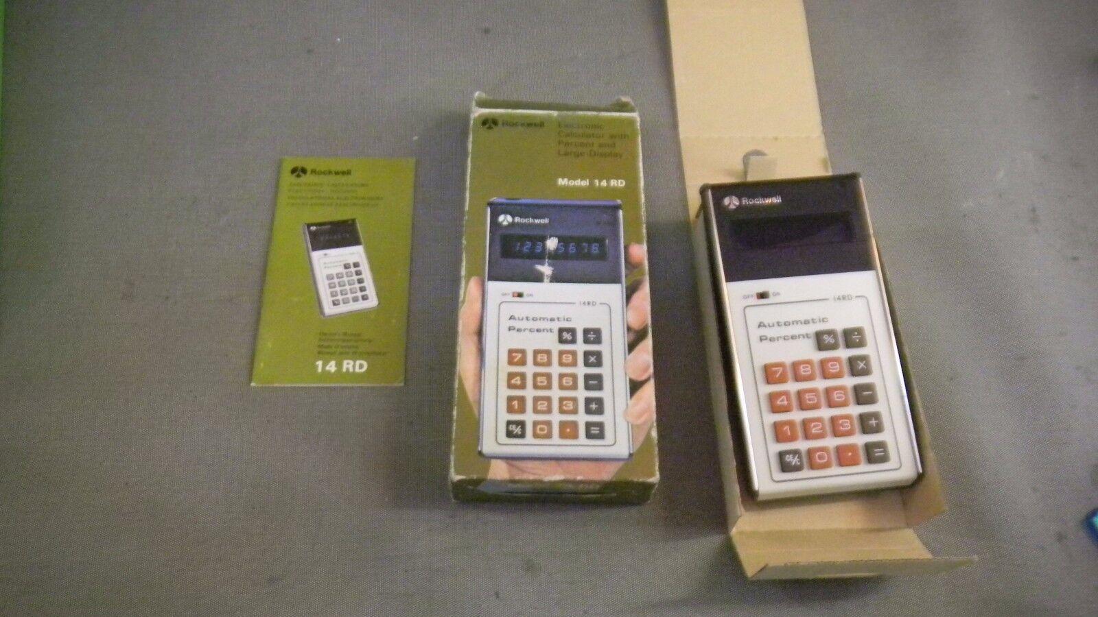 Rockwell International 14 RD Electronic Calculator ORIGINAL BOX NEVER USED