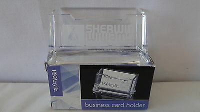 Sherwin Williams Paint Company Cover The Earth Business Card Holder Mib  J217
