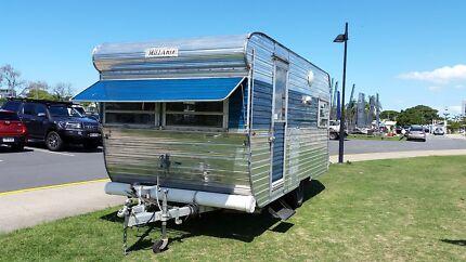 retro millard caravan vintage 1976 with bunk beds