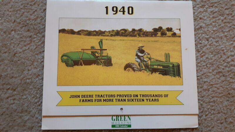 Green Magazine John Deere 1940 Calendar from 1996
