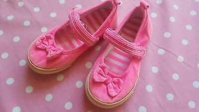 Gymboree FAIRY TALE FOREST girls pink bow sneakers shoes size 10