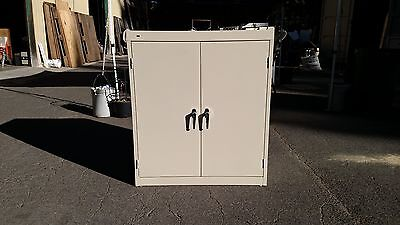 """*STORAGE Commode METAL 36"""" WIDE w/LOCK & KEYS HON We Deliver Locally Northern CA"""