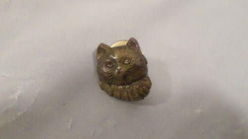 Vintage Copper Cat Head Pin