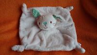 Miniclub Mini Club Pink Bunny Rabbit Baby Comforter Blankie Doudou Green Ears - mini club - ebay.co.uk