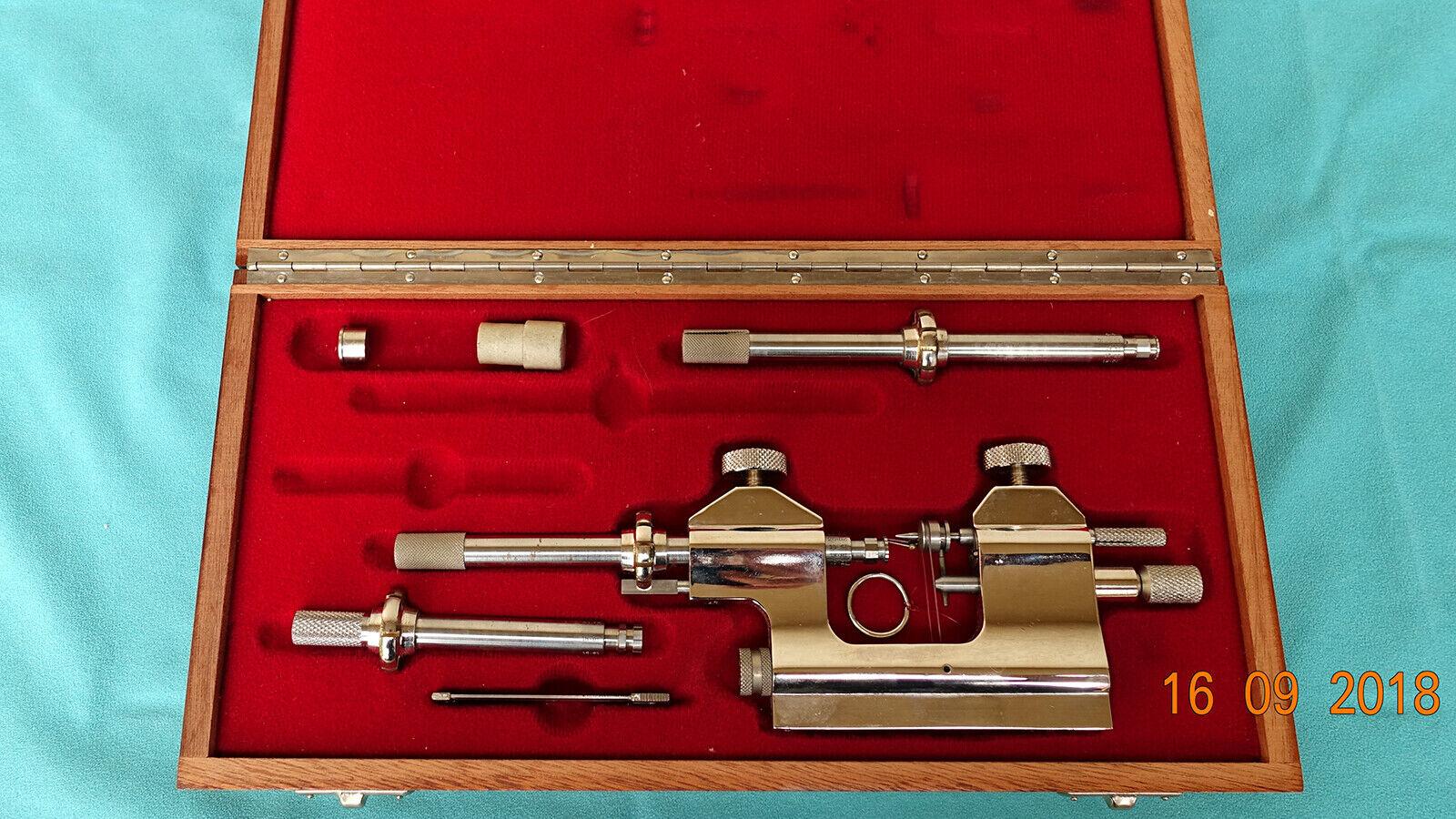 Steiner Hahn Zapfenrollierstuhl Drehmaschine Uhrmacherwerkzeug