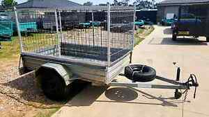 Hot dipped galvanized 7x4 trailer removable cage rego cheap Sydney City Inner Sydney Preview