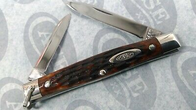 VINTAGE 1940-64 CASE 62042 RED BONE EQUAL END MINT KNIFE