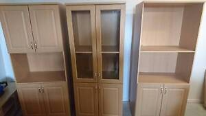 3 x Cabnets/Shelf Units in beech colour. Flinders View Ipswich City Preview