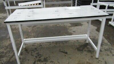 66 X 30 X 36h Trespa Toplab Plus Black Phenolic Top Lab Benchtable Adj. Legs