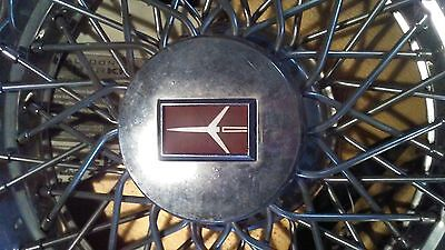 """1980s Oldsmobile Wire Basket 14"""" Hubcaps Set of 4"""