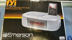 Emerson Fyi For your Ipod CD Stereo Dual Alarm Clock Radio With Docking For Ipod