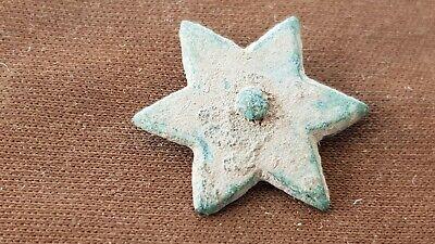 Superb little rare Post Medieval bronze star mount. Please read Description. L59