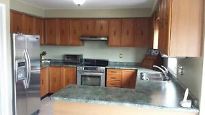 Used Kitchen oak cabinets, laminate countertop and sink