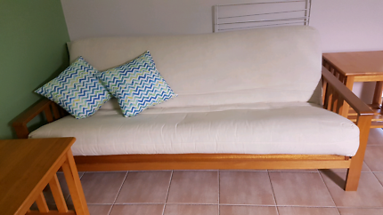 Sofa Bed with matching side tables
