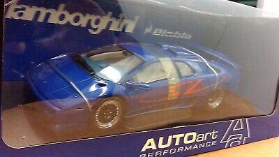 new 1:18 scale model by AutoArt Lamborghini Diablo SV Coupe in metallic blue.