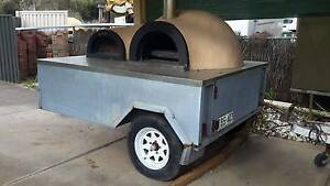 WOOD FIRED PIZZA OVEN ROTATING BASE TRAILER MOUNTED. Happy Valley Morphett Vale Area Preview