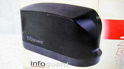 New Infoguard 20 Sheet Electric Stapler Es20h Battery Or Ac Power Adapter Nib
