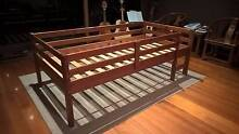 Solid timber single bed with guard rails + Ikea mattress Doncaster Manningham Area Preview