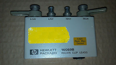 Agilent Hp 16089b Kelvin Clip Lead Test Fixture For Parts Only