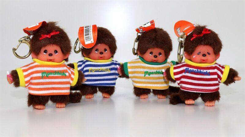 Monchhichi Monchichi Monkey Doll Figure Plush Toy Keychain by Sekiguchi SET OF 4